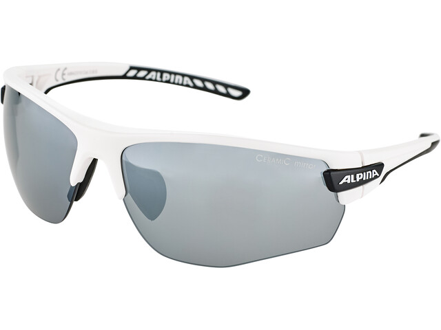 Alpina Tri-Scray 2.0 HR Lunettes, white matt-black/black mirror
